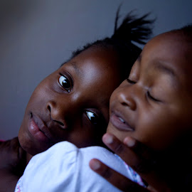 I love my sister by Kim Stone - Babies & Children Child Portraits ( love, girls, sisters, faces, african, mood, young, portrait,  )