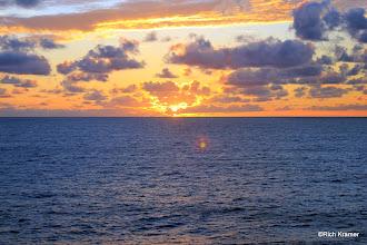 Photo: Sunset at sea.