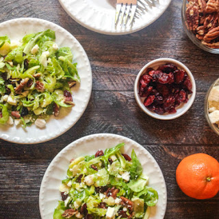 Cranberry Brussels Salad with Tangerine Dressing