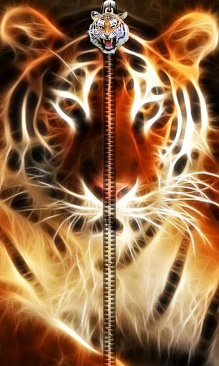 3D Tiger Zipper UnLock