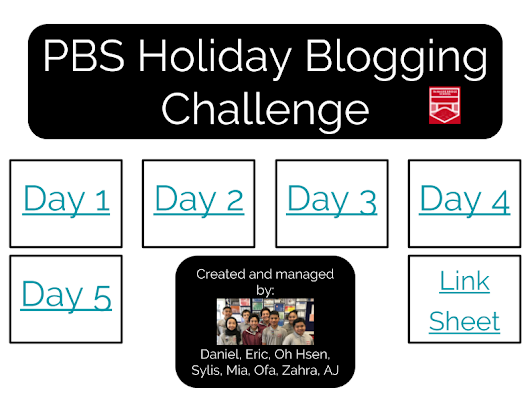 Panmure Bridge School Holiday Blogging Challenge