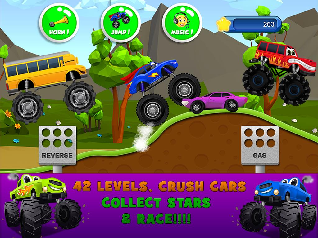 monster trucks game for kids 2 screenshot