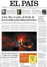 Photo: Artur Mas se pone al frente de la reivindicación soberanista, la Audiencia Nacional confirma la libertad de Bolinaga, el Constitucional alemán da luz verde al fondo de rescate europeo, Holanda vota a los proeuropeos y se aleja del extremismo y EE UU envía 'marines a Libia tras el ataque contra su consulado, entre los titulares de portada del jueves 13 de septiembre de 2012. http://srv00.epimg.net/pdf/elpais/1aPagina/2012/09/ep-20120913.pdf