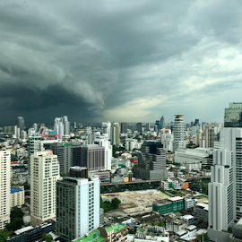 Rain is coming again by Frank Photography - Instagram & Mobile iPhone ( cloudy, monsoon, 2018, storm, light, asia, bangkok, july, skyline )