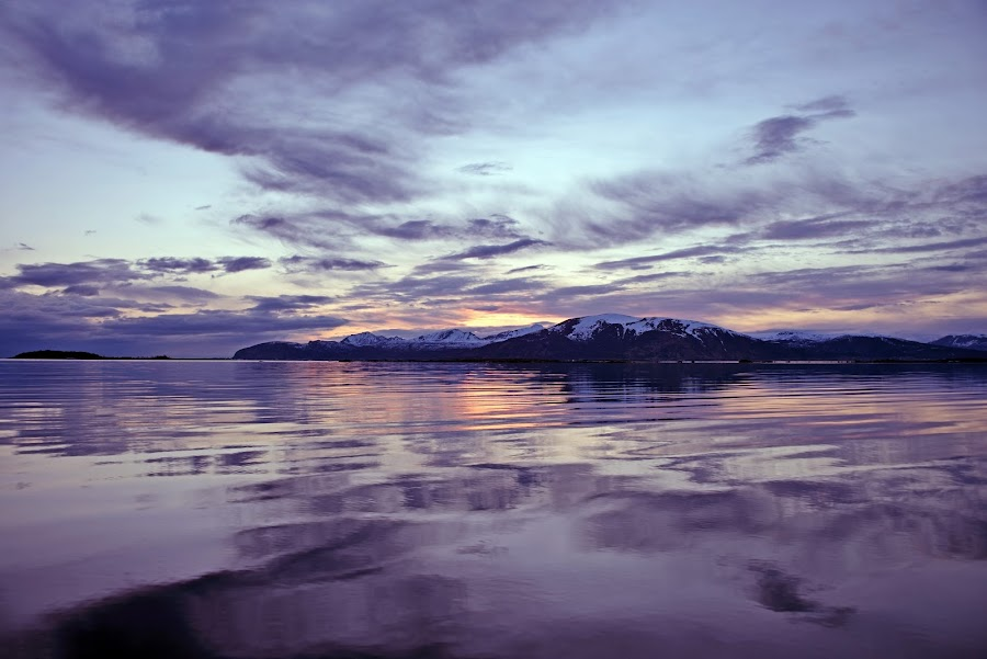 sunset reflection by Marius Birkeland - Landscapes Waterscapes ( clouds, reflection, sky, sunset, ocean )