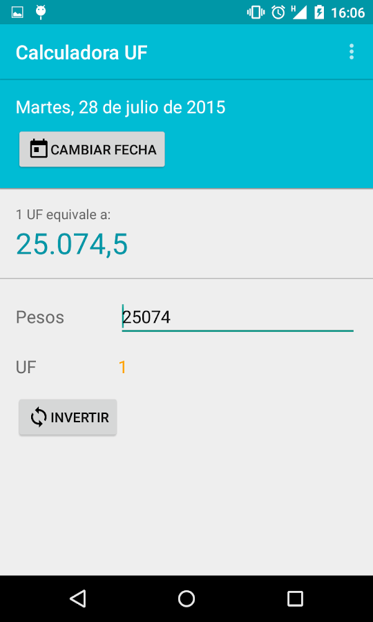 Calculadora UF- screenshot