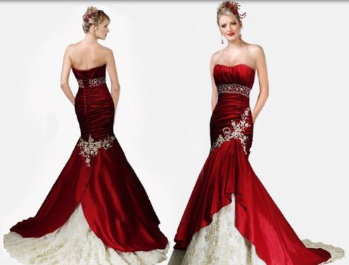 カラフルなウェディングドレスのアイデア