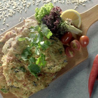 Savory Tapioca and Vegetable Pancake with Home Ground Brown Rice Flour.