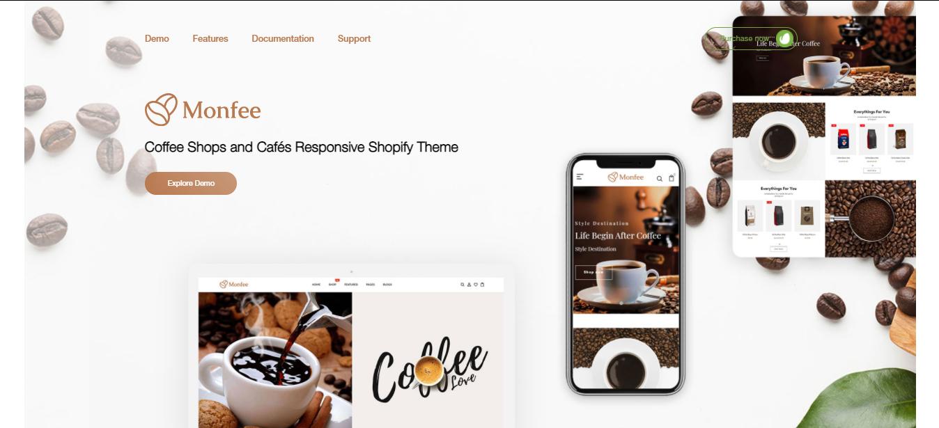 Monfee - Coffee shop shopify theme