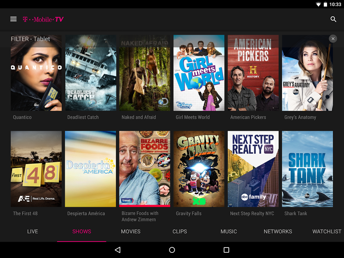 T-Mobile TV with Mobile HD- screenshot