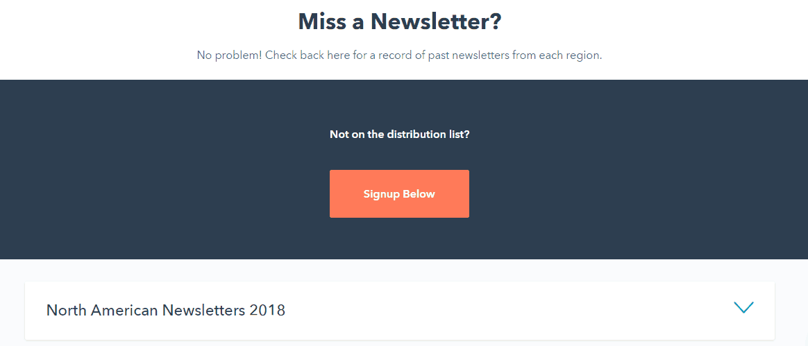 Create Newsletters Archive email marketing
