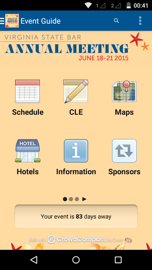 Virginia State Bar Events - screenshot