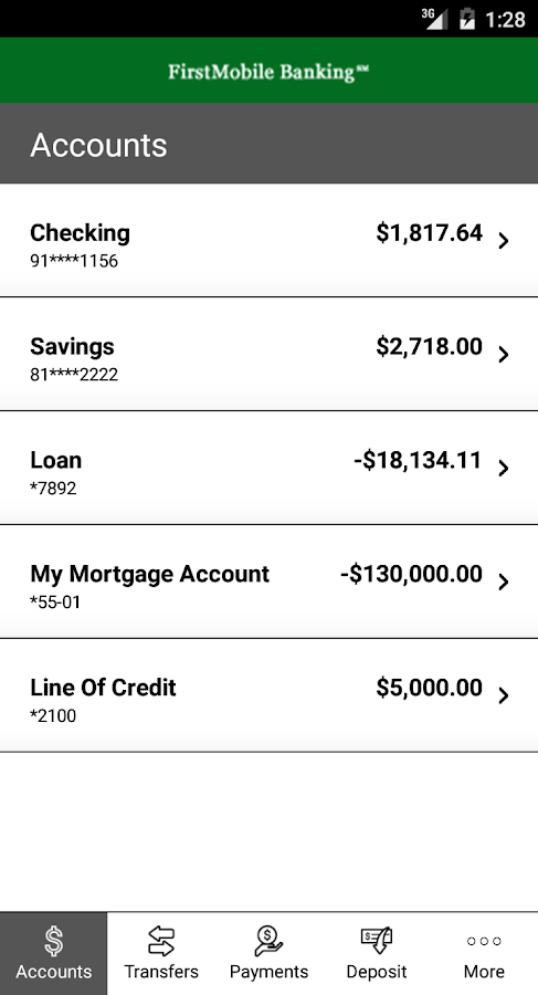 FirstMobile Banking℠- screenshot