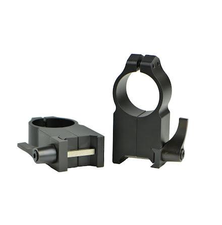 Warne 204LM 1 inch QD Ultra High Matte Rings