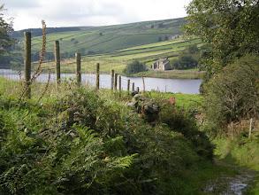 Photo: Descending towards Ponden Reservoir