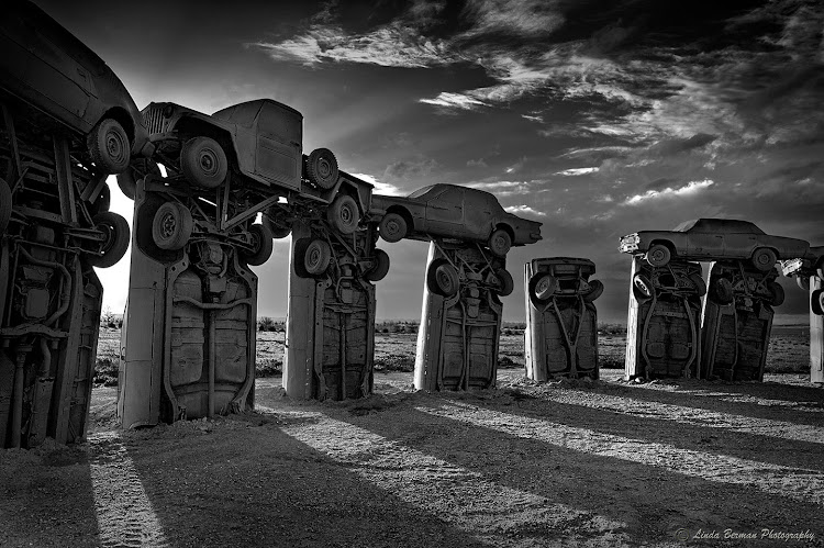Carhenge in Nebraska has used wrecks to create a replica of Stonehenge