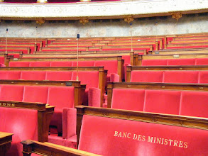 Photo: There are also special benches reserved for government ministers involved in the Assembly's deliberations.