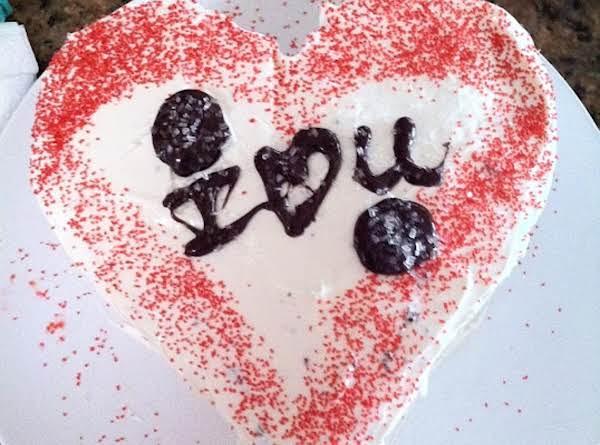 Homemade Gluten-free Valentine Cake.  Made With Love!