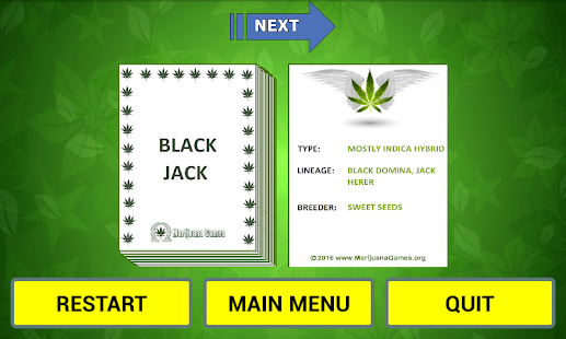 Cannabis Strain Flash Cards- screenshot thumbnail