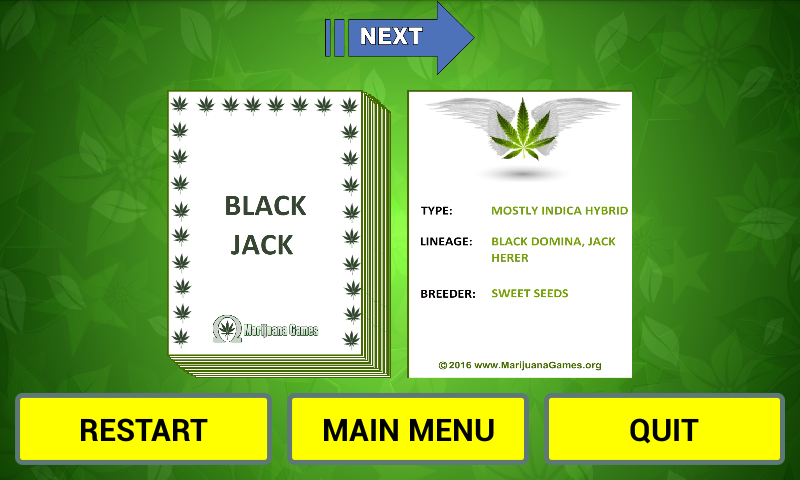 Cannabis Strain Flash Cards- screenshot