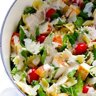 Chicken Caesar Pasta Salad.