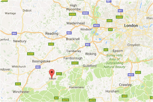 Map of Coolheat location in Hampshire