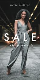 Maria Clothing Sale Shop Now - Half Page Ad item