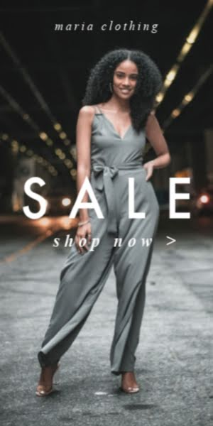 Maria Clothing Sale Shop Now - Half Page Ad Template