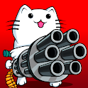 Cat Shooting War: Offline Gunner TD Battles icon