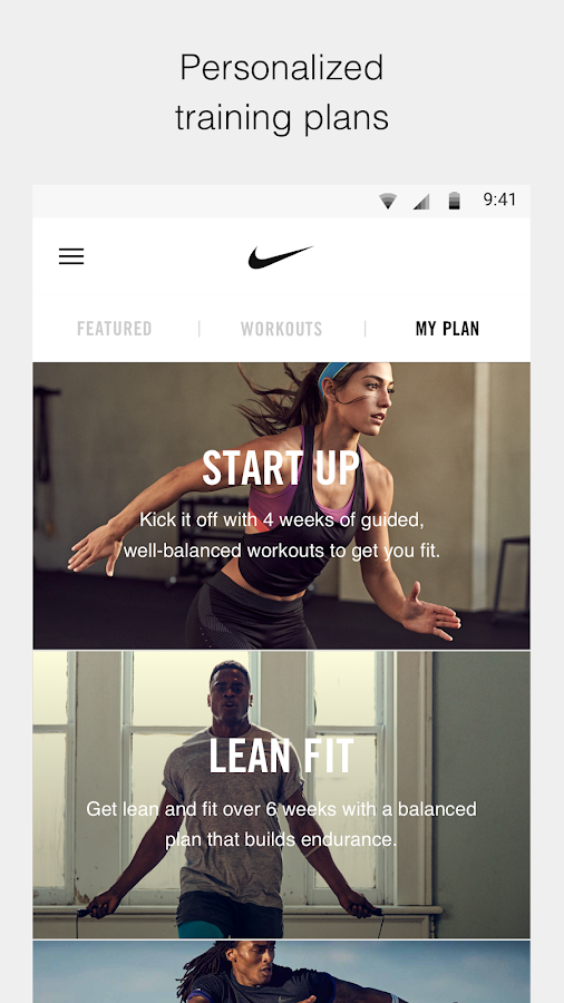 Nike Training Club Workouts Fitness Plans Screenshot