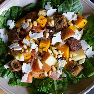 Butternut Squash, Apple, and Currant Panzanella Salad