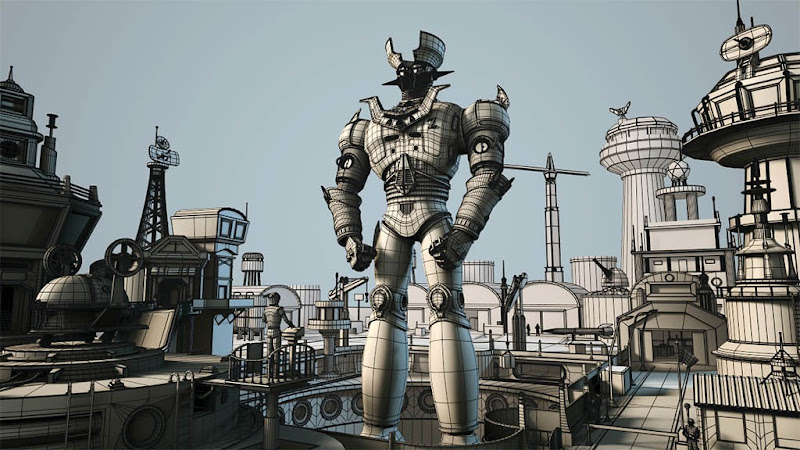 "Photo: ""Mazinga-Z army base""  wireframe  Author: Gaston Nicolas Alanis"