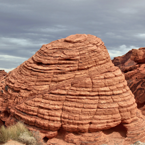 Beehive by Tony Huffaker - Landscapes Deserts ( rock, red, nevada, formation, sandstone )