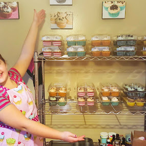 Cupcakes galore!  by Nicole Mitchell - Food & Drink Cooking & Baking ( cupcakes, colorful, cookie dough, salted caramel, mint, baker )