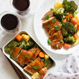 Sheet Pan Chicken Teriyaki with Veggies and Pineapple Meal Prep (No Sesame) Recipe