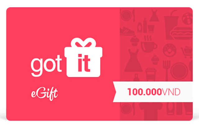 Phiếu quà tặng Gotit có hình thức gọn nhẹ và tiện lợi trong quá trình mua sắm