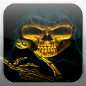 Skeleton Skull Fire Flames LWP icon