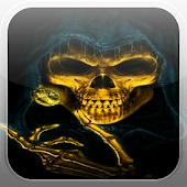 Skeleton Skull Fire Flames LWP