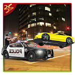 City Police Car Driving 3D Icon