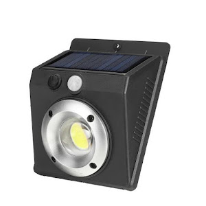 Lampa solara de perete cu LED COB si senzor de miscare
