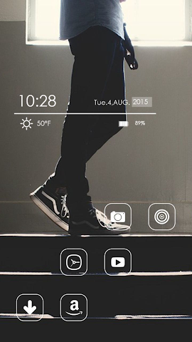 android Blue Jeans Theme Screenshot 1