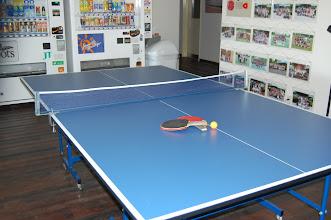 Photo: 本館 ロビーにて卓球台設置しています。合宿のお客様は御利用無料です。
