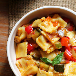 Spicy Ratatouille with Ravioli