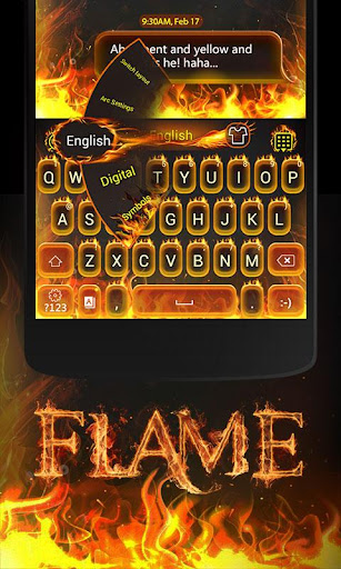 Flame GO Keyboard Theme Emoji