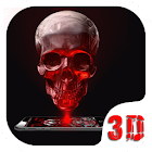 Red Blood Skull 3D Theme icon