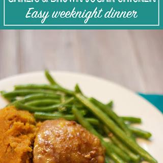 Chicken with Caramelized Garlic and Brown Sugar Glaze Recipe