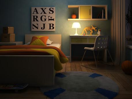 dormitorio juvenil iluminacion