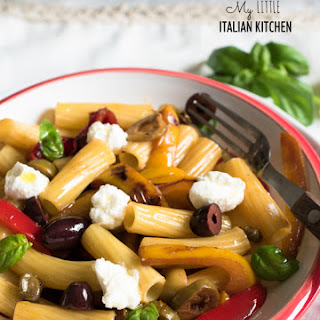 Rigatoni with Olives, Peppers and Ricotta – Easy Mid-Week Meal Recipe