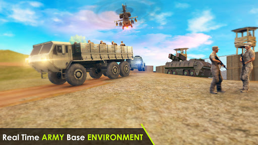 Army Truck Driving 3D Simulator Offroad Cargo Duty apkpoly screenshots 5