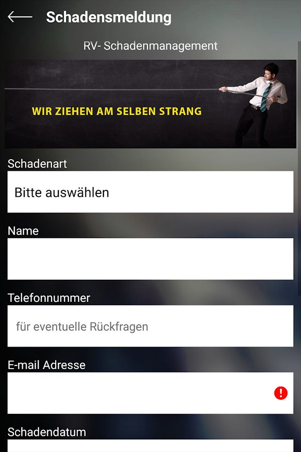 RV Versicherungsmakler GmbH – Screenshot